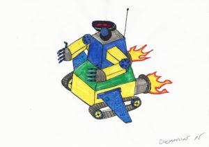 robot rysunek